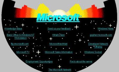 Re-descubriendo los años mozos de Microsoft en Internet. La imagen de la semana