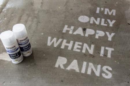 NeverWet Graffiti, arte urbano invisible... hasta que empieza a llover