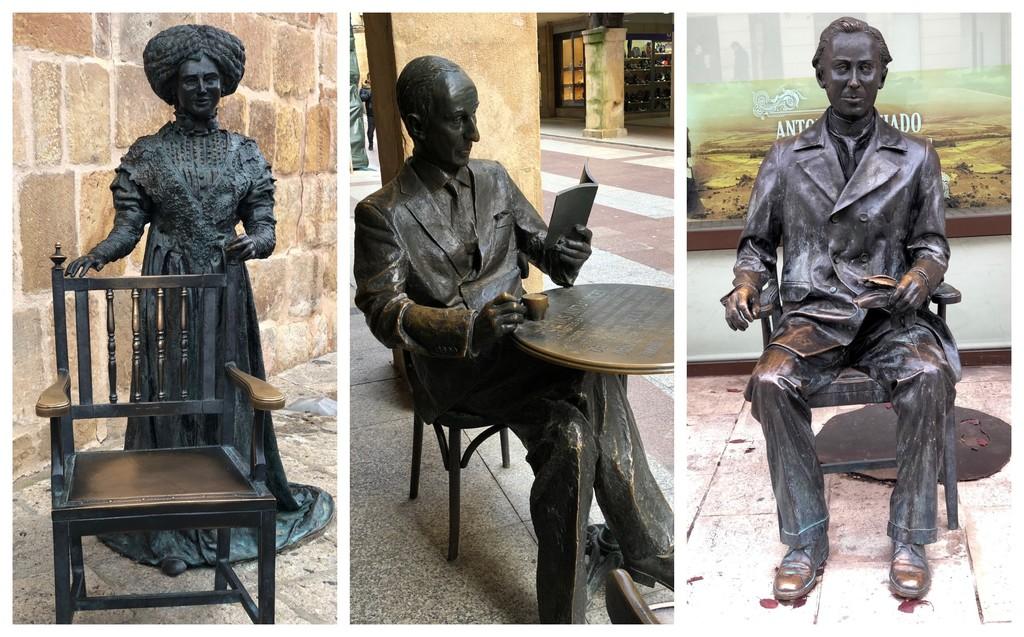 Tres estatuas en Soria nos recuerdan su importancia literaria y son objetivo de numerosas fotografías y selfies
