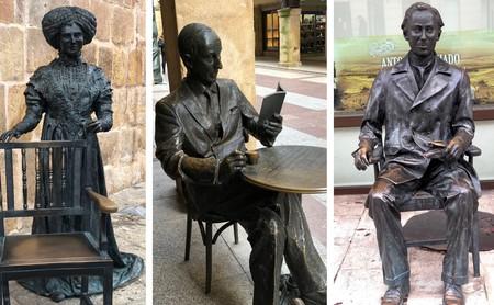 Tres estatuas en Soria nos recuerdan su importancia literaria (y son objeto de numerosas fotografías y selfies)
