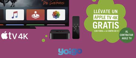 Yoigo regala un año de Apple TV+ con Agile TV y el Apple TV 4K con la tarifa Fibra + La Sinfín GB infinitos