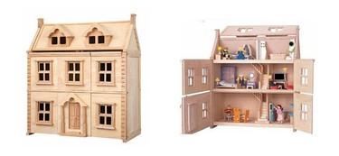 Una casa de muñecas de estilo Victoriano