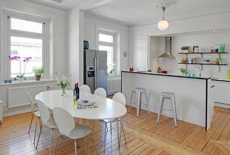 Un loft duplex por la parte de la cocina y el comedor
