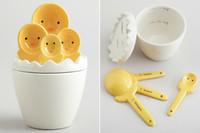 Simpático juego de medidas en forma de pollitos de Pascua