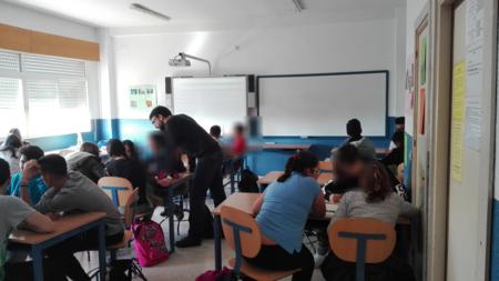 Ignacio Sánchez introduciendo el rol en las aulas.