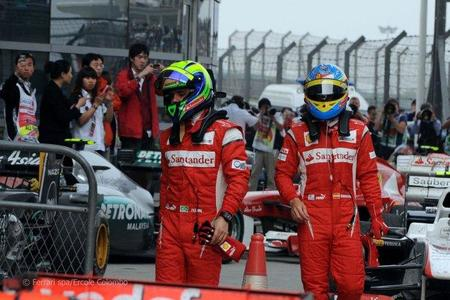 Alonso y Massa Ferrari GP China F1 2011