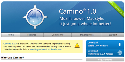 Camino 1.0.4 ya disponible