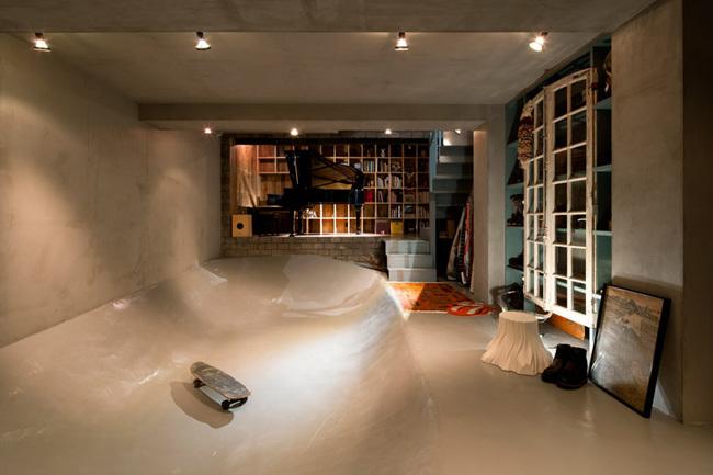 casa skater - bañera