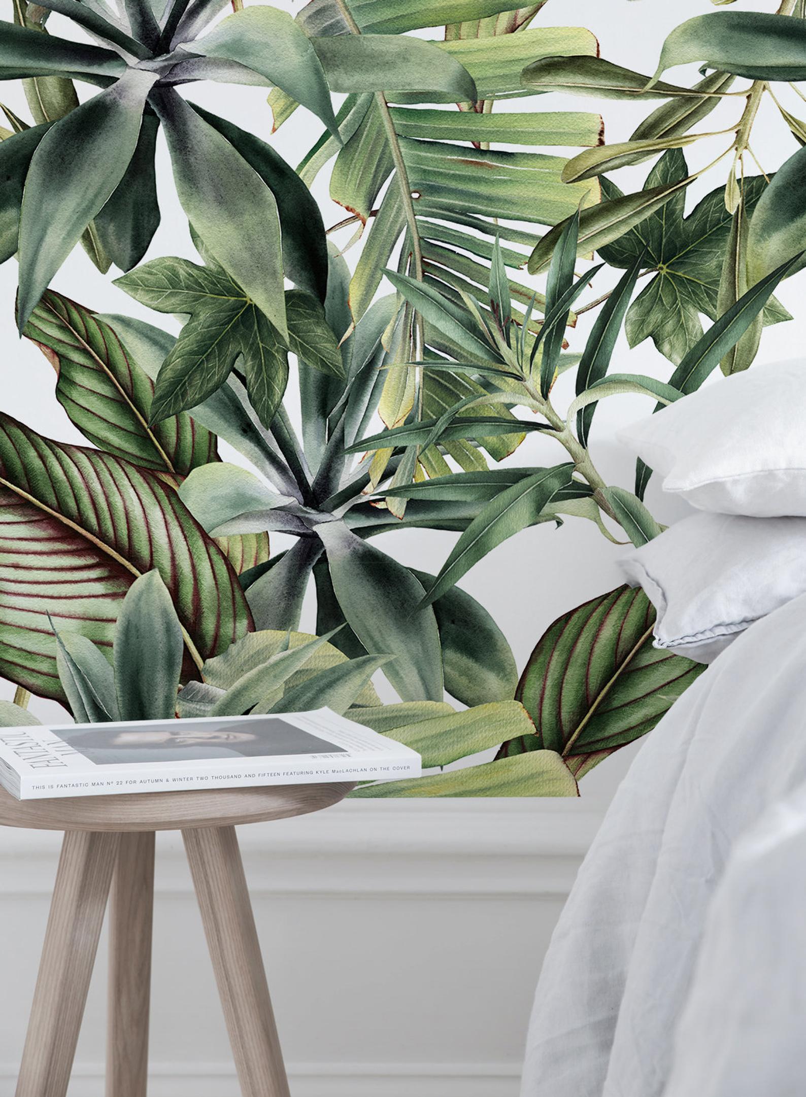 Papel pintado extraíble Peel y stick Papel de pared pared Mural - Fondo de pantalla tropical - A450