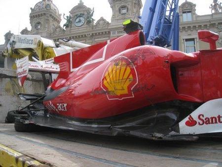 Fernando Alonso reconoce su error en el accidente