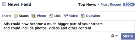 """Facebook tiene nuevos bloques de anuncios, al fin se enfocan en lo social y no en los """"me gusta"""""""