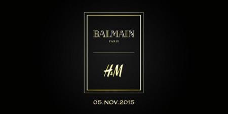 Balmain Hm Coleccion Noviembre 5 2015