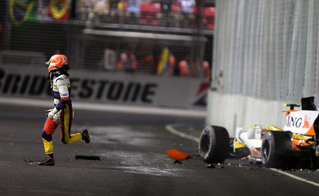 Nelsinho Piquet 2008 Singapur Accidente