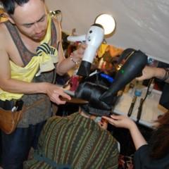 Foto 10 de 27 de la galería el-backstage-de-custo-en-la-nyfw en Trendencias Belleza