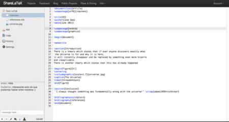 ShareLaTeX, edición online y colaborativa de documentos LaTeX