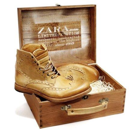 Zara saca una edición limitada de botines de piel