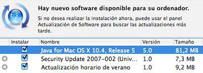 Nuevas actualizaciones de software