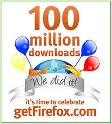 Firefox llega a la descarga número 100.000.000