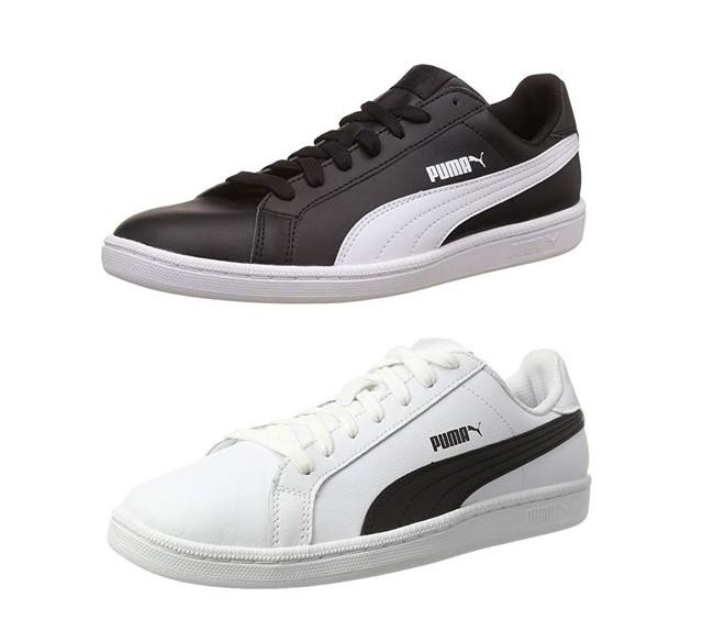 Las zapatillas Puma Smash L pueden ser nuestras por 29,85 euros, tanto en negro como en blanco, en Amazon y con envío gratis