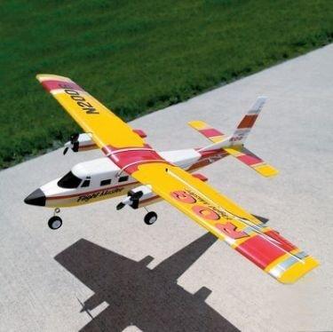 Avión a radiocontrol capaz de despegar