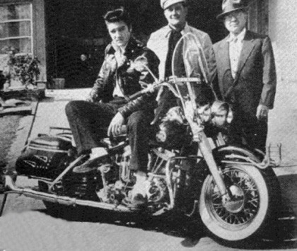 Harley Davidson Panhead Elvis Presley