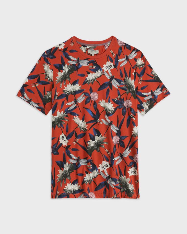 Camiseta modelo Jimbod color rojo