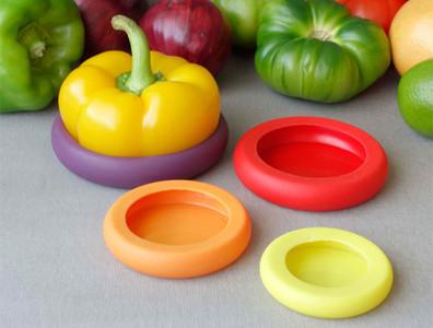 Food Huggers, para esas frutas y verduras a medio cortar