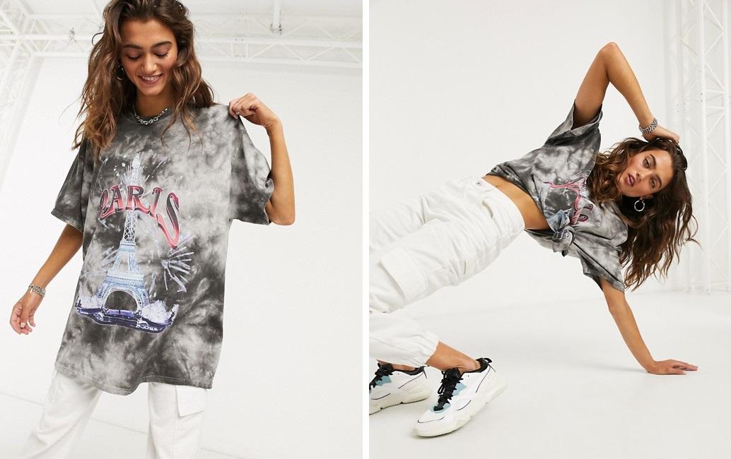 Camiseta con estampado de la Torre Eiffel