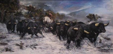 Obras de la Colección 'Toros' de Tirpák Sándor en Excellence Fair 2011