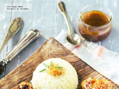 Muslos de pollo en salsa de naranja y soja. Receta