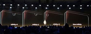 Samsung se apunta al notch con tres diseños distintos en sus nuevas pantallas Infinity Display