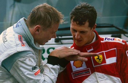 Hakkinen Schumacher Spa F1 2000