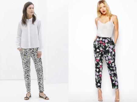973fc5f192 Tendencias low-cost Primavera-Verano 2014 pantalones estampados flores Asos