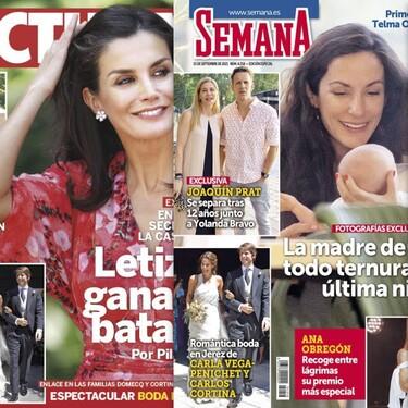 Joaquín Prat se separa, el nuevo proyecto profesional de Gema López y Letizia gana la encuesta secreta de palacio: estas son las portadas de la semana del 8 de septiembre