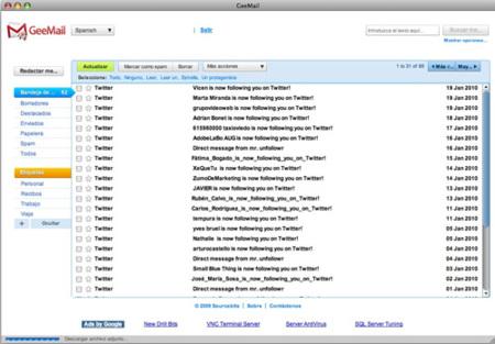 GeeMail un cliente de correo para GMail
