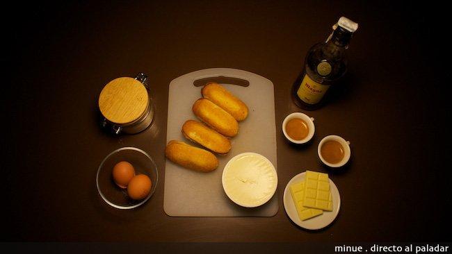 Copa de tiramisú y chocolate blanco - ingredientes