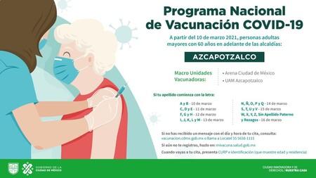 Calendario Vacunacion Covid 19 Cdmx Azcapotzalco
