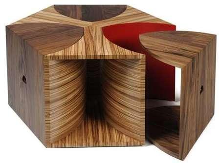 Mesa de café hexagonal
