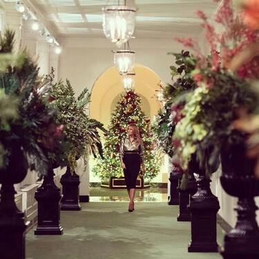 Melania Trump presenta la decoración navideña de la Casa Blanca en su último año como primera dama