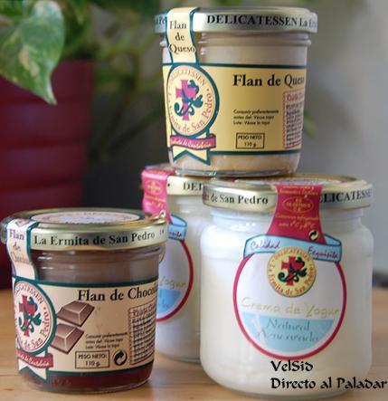 Yogures y flanes delicatessen La Ermita de San Pedro