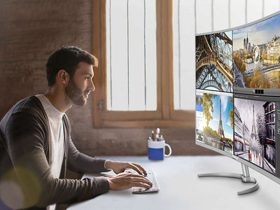 El nuevo monitor de Philips parece un televisor para el salón: curvo y 4K en 40 pulgadas