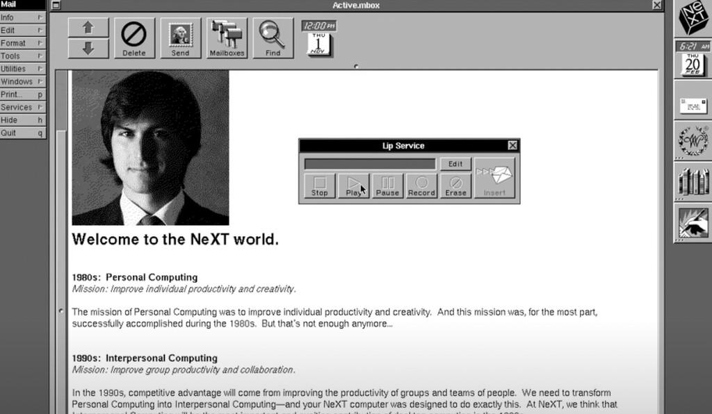 Así se presentaba Steve Jobs en los nuevos NeXT usando su propia voz