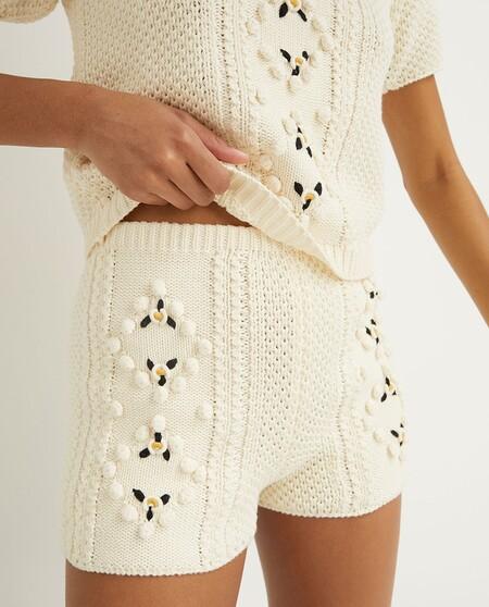 Short De Mujer Crochet Flores