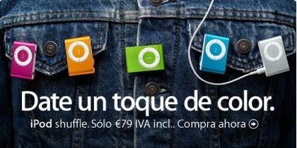 ¡NUEVOS iPod shuffle de colores!