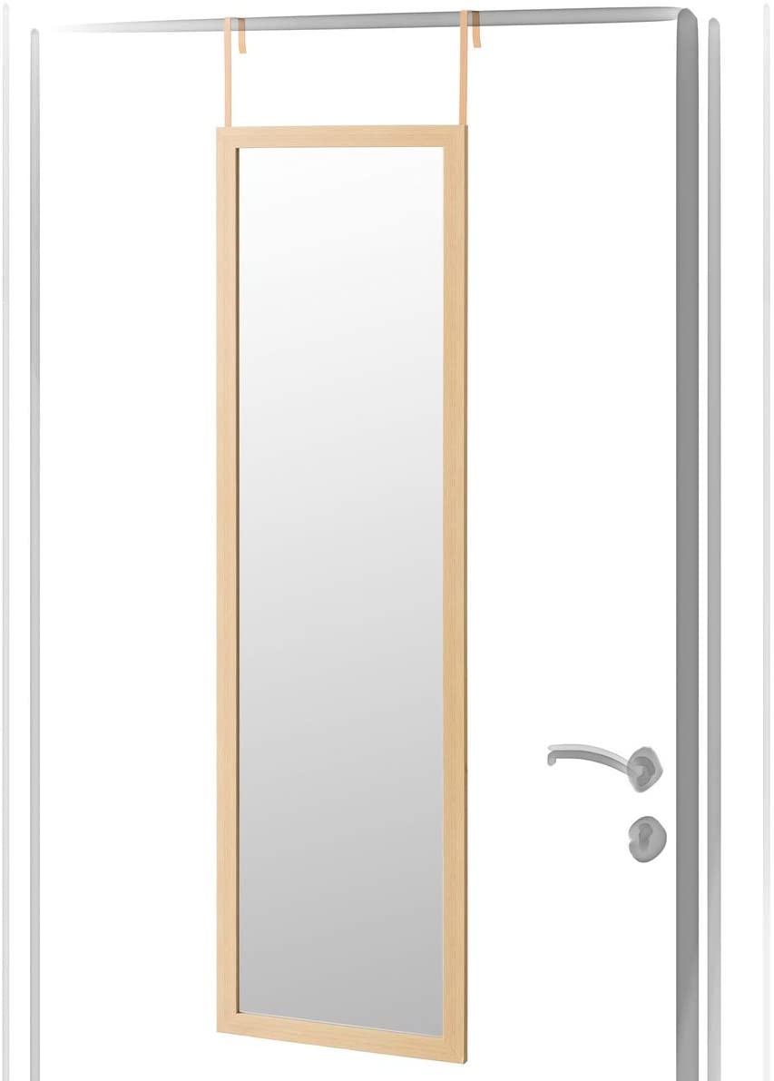 Lola Home Espejo de Puerta Moderno de plástico de 35 x 125 cm (Beige)
