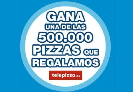 Orbit sortea 500.000 pizzas de Telepizza