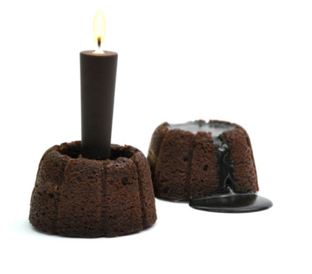 Vela de chocolate: se derrite y se come