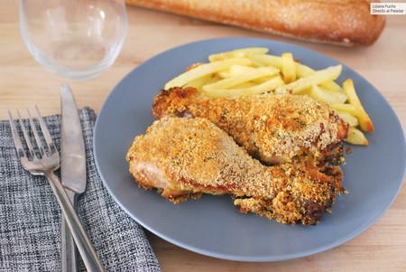 Receta de muslos de pollo asados a la mostaza con costra