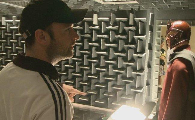 Matthew Vaughn en el set de X-Men: Primera Generación