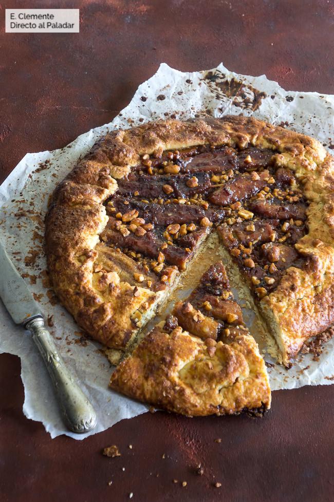 Tarta rústica de plátano y cacahuete: receta